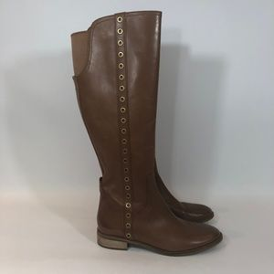 MICHAEL KORS Brown Leather Riding Boots